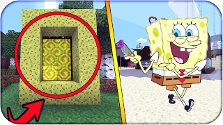 Download Minecraft Como Hacer PORTAL a la DIMENSION de BOB ESPONJA PORTAL SIN MODS INCREIBLE Video