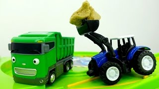 Download Tayo toy cars & toy cars videos. Helper cars: toy tractor 🚜 and toy truck 🚛 Машины помощники. Video