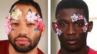 Download Men Try Bizarre Runway Makeup Looks Video