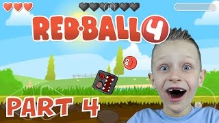 Download RED BALL 4, levels 11-15 and BOSS epic battle   KID GAMING Video