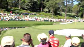 Download Martin Kaymer hole in one with ball skipped across the water at 16 - 2012 Masters [Original HD] Video