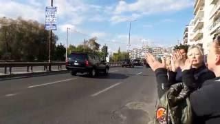 Download Barack Obama's Presidential Motorcade arrives in Athens Greece Video