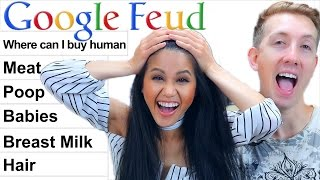 Download GOOGLE FEUD Challenge w/ my GIRLFRIEND (Vy Qwaint) Video
