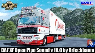 Download ✅ ETS2 1.30 - DAF XF Open Pipe Sound v 10.0 by Kriechbaum Video