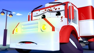 Download Amber the AMBULANCE is covered in soup! - Tom the Tow Truck's Car Wash   Cars cartoons for kids Video