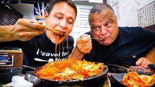 Download Korean Food in Los Angeles - 2 GIANT FLAMING CHEESE Ribs Cauldrons in Koreatown LA! Video