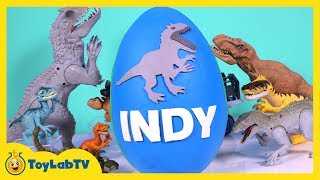 Download HUGE Jurassic World Play Doh Surprise Egg with Indominus Rex, T-Rex, Surprise Toys & Dino Fossil Kit Video