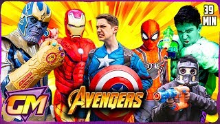 Download Avengers Vs Thanos - Epic Superhero Kids with Nerf! Video