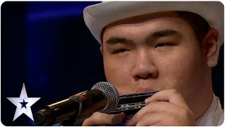 Download Oscar Chu Plays 8 Harmonicas | Asia's Got Talent 2015 Ep 2 Video
