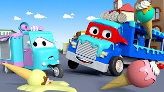 Download The ICE CREAM TRUCK - Carl the Super Truck in Car City | Children Cartoons Video