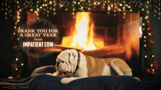 Download Snoozing Yule Log Bulldog Full HD Fireplace With Crackling Sounds Video