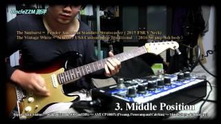 Download Fender American Standard Stratocaster VS Schecter USA Custom Shop Traditional Video