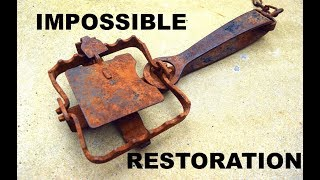 Download Rusty Antique CLAW TRAP Restoration - Impossible.... Video