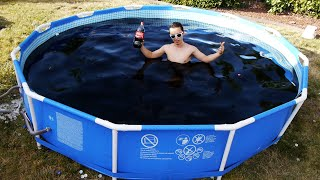 Download Taking a Bath in a Giant 1,500 Gallon Coca-Cola Swimming Pool! Video