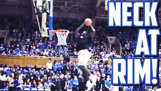 Download ZION WILLIAMSON NECK AT RIM!!! ALL DUKE SCRIMMAGE DUNKS!!! Video