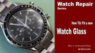 Download How to fit a new watch glass. Watch repair tutorials. Omega Watch. Video