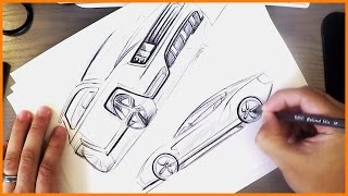 Download Industrial Design Sketching - BiC Pen Cars Video