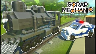 Download TRAIN HEIST! - Scrap Mechanic Multiplayer Gameplay - Cops & Robbers Challenge Video