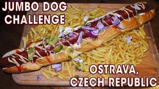 Download JUMBO HOT DOG CHALLENGE IN CZECH REPUBLIC!! Video