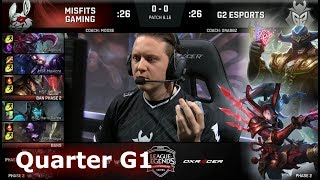 Download Misfits vs G2 eSports | Game 1 Quarter Finals S8 EU LCS Summer 2018 | MSF vs G2 G1 Video