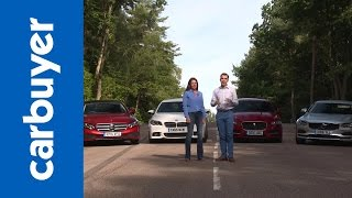 Download Mercedes E-Class vs BMW 5 Series vs Jaguar XF vs Volvo S90 – Carbuyer Video