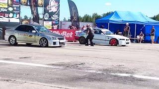 Download BMW M3 E36 Turbo VS 2JZ Lexus IS200 drag race Video