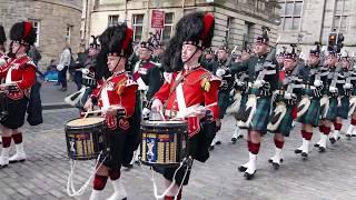 Download The Black Watch parade Edinburgh's Royal Mile [4K/UHD] Video