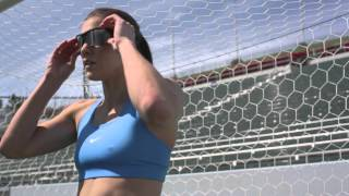 Download Hope Solo training session, recovering with Hyperice. Video