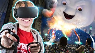 Download CATCHING GHOSTS IN VIRTUAL REALITY | Ghostbusters VR Experience (Oculus Rift + Haptic Suit Gameplay) Video