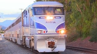 Download LONG AMTRAK SURFLINER TRAINS Video
