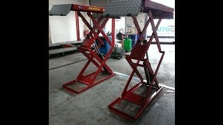 Download Phoenix Automotive STD-7230 On Floor Scissor Lift Video