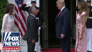 Download Trump welcomes King Abdullah II to the White House Video