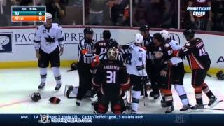 Download Fights San Jose Sharks vs Anaheim Ducks Brawl Oct 26, 2014 HD Video