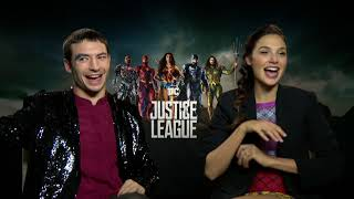 Download Gal Gadot & Ezra Miller on deleted JUSTICE LEAGUE scenes, Flash's name, Wonder Woman, more Video