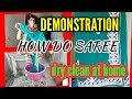 Download DEMONSTRATION Saree drycleaning at home. ( oily stain cleaning ) HINDI Video