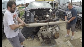 Download Pulling a Junkyard LS engine by HAND | $190 L33 5.3 LS for the Sh!thorse Video