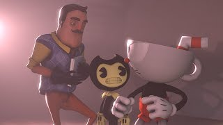 Download [SFM]Hello Neighbor Tries To Sell Cuphead His Book Cuphead vs Hello Neighbor Video