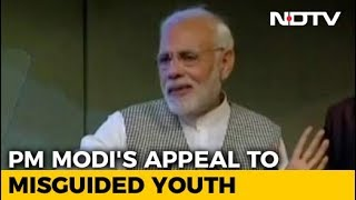 Download PM Modi Appeals To Kashmir's ″Misguided Youths″ To Shun Violence Video