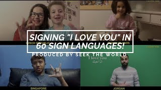 Download Signing ″I Love You″ in 60 Sign Languages Video