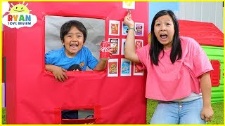 Download Ryan Pretend Play with Giant Vending Machine Kids Toy!!! Video