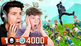 Download FORTNITE WORLD'S BEST 13 YEAR OLD! 1 KILL = 4,000 *FREE* VBUCKS! Video