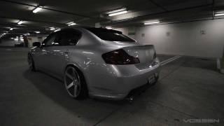 Download Infiniti G35 Sedan on 20″ Vossen VVS-CV3 Concave Wheels / Rims Video