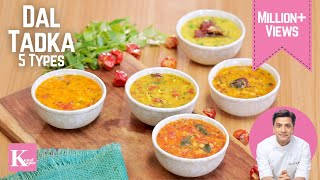 Download Dal Tadka 5 ways | Kunal Kapur Recipes | Indian Dal Fry Recipes Video