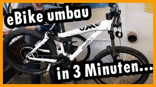 Download DIY EBike umbau in 3min 1000w 48V Video