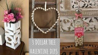 Download 3 Dollar Tree Valentine Farmhouse DIYs Video