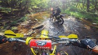 Download Motocross Bikes in the Creek Video