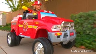 Download Kids Fire Truck Unboxing and Review - Dodge Ram 3500 Ride On Fire Truck! Video