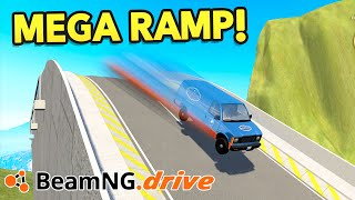 Download BeamNG Drive Creations : BIGGEST RAMP!! (BeamNG Drive Crashes) Video