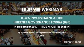 Download IFLA at the Internet Governance Forum Video