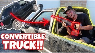 Download I TURNED MY SUV INTO A TRUCK WITH A SAW!! Video